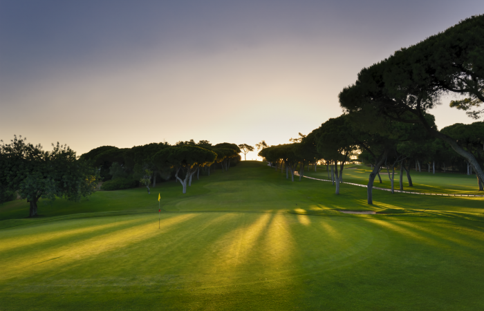 Green in the Dom Pedro Old Course Golf Club