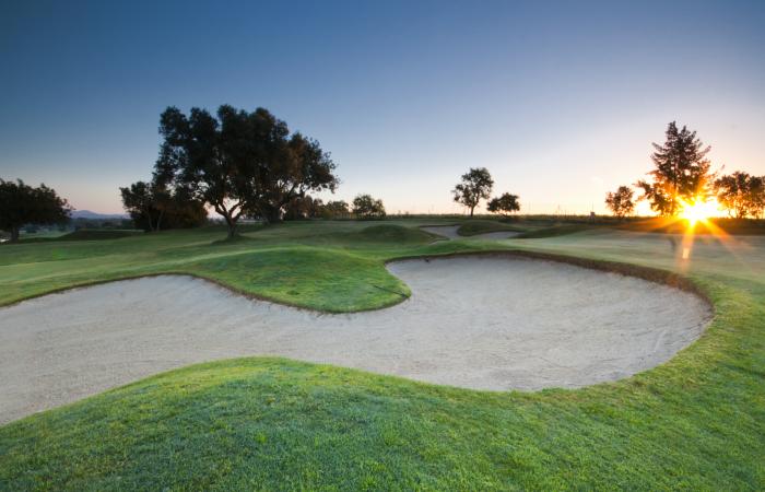 Sand bunker in Vale da Pinta Golf Course