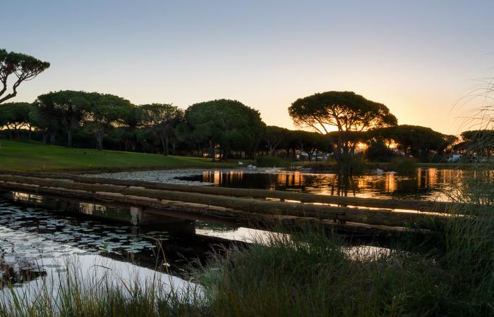 Lake in the Vila Sol Golf Course