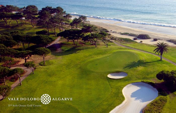 Eleventh hole of the Vale do Lobo Ocean Golf Course near the beach
